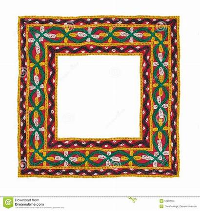 Square Border Textile Isolated Frame Text Composite