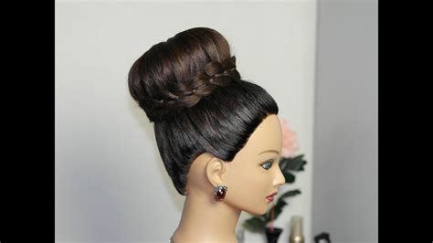 Hairstyle For Hair For by Braided Bun Updo Hairstyle For Hair