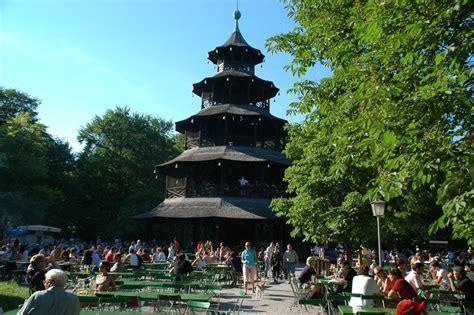 Englischer Garten Munich by Tower With Garden In Garden Munich