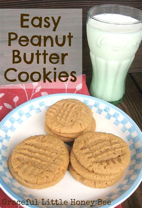 simple peanut butter cookies easy peanut butter cookies graceful little honey bee
