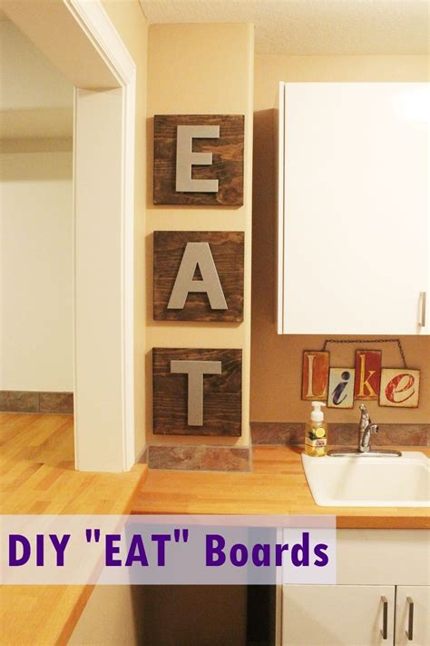 And although most families lean towards functional rather than creative and unique when it comes to decorating the kitchen, the best kitchen wall art decor and. Kitchen Wall Art Decor: DIY EAT Wooden Boards