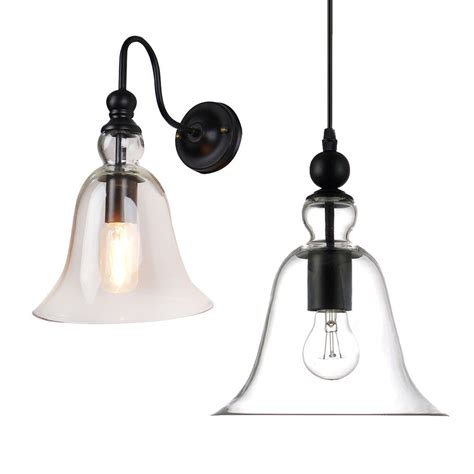 new industrial sconce pendant light ceiling l glass shade wall light fixture ebay