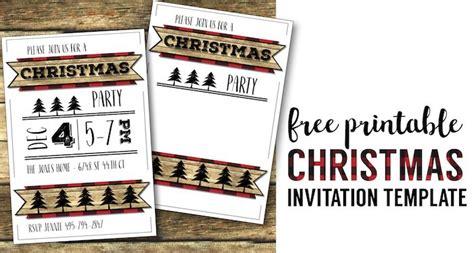 free printable christmas invitations template invitation templates free printable