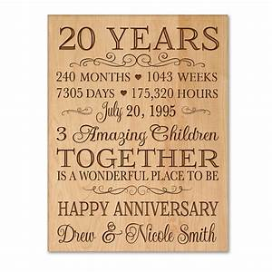 Personalized 20th anniversary gift for him20 year wedding for 20 year wedding anniversary gifts for her