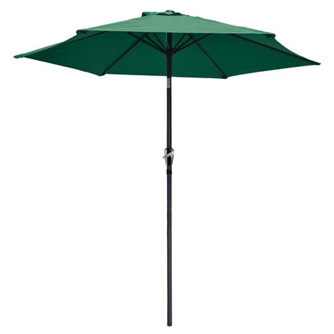 8 ft patio umbrella aluminum crank tilt deck sunshade