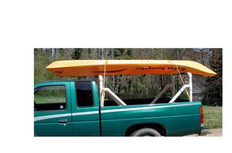 how to build a kayak rack for truck pvc truck rack pics kayaking and kayak fishing