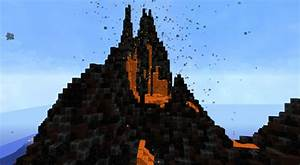 Tropical Volcano With Redstone Particle Smoke  Erupting