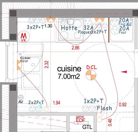 plan cuisine restaurant normes le circuit spécifique des prises de courant de la cuisine