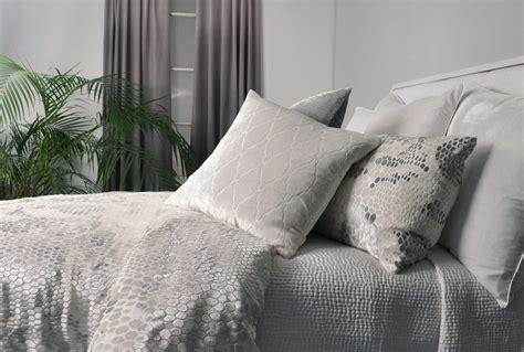 Kevin O'brien Home Decor : Snakeskin White Velvet Bedding