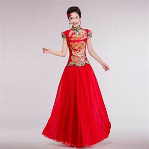 exquisite traditional chinese wedding dress with red lace With best chinese wedding dress website