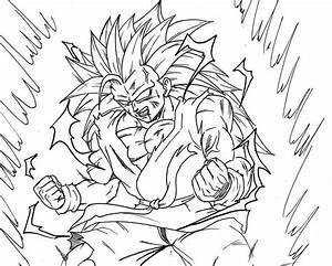 Son Goku fase 3 a fase 4 para iluminar y colorear - Dibujos De