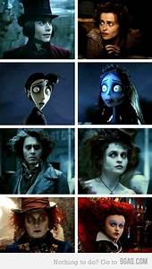 Johnny and Helena | Tumblr funny, Tim burton, Funny pictures