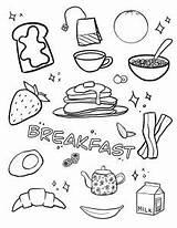 Breakfast Coloring sketch template