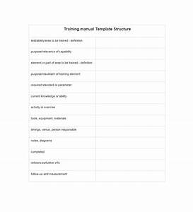 Training manual 40 free templates examples in ms word for Training module template