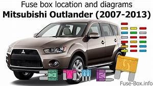 Fuse Box Location And Diagrams  Mitsubishi Outlander  2007