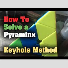 How To Solve A Pyraminx  Beginner Keyhole Method Youtube