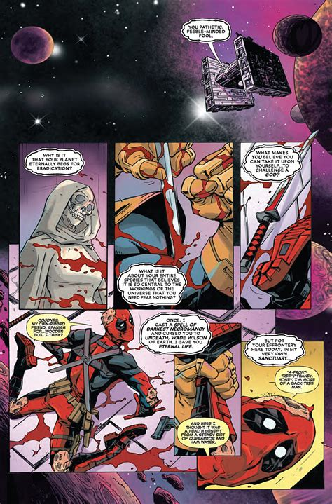 Marvel Comics Review & Spoilers Deadpool Vs Thanos #1