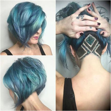 15 Ways To Add Bright Color To Your A line Bob Haircut