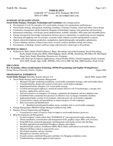 qualifications summary resume examples best summary of qualifications resume for 2016