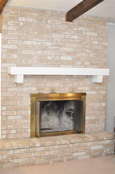 paint  brick fireplace tutorial monica