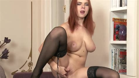 A Redhead With An Awesome Ass Is Opening Up Her Legs For Sex