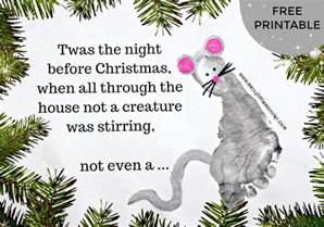 twas the night before christmas footprint craft messy little monster
