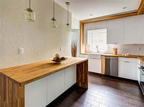 Unique Kitchen Countertop Ideas - diy butcher block countertops for stunning kitchen look