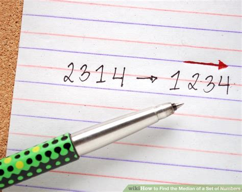 How To Find A by How To Find The Median Of A Set Of Numbers 6 Steps