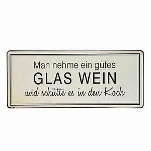 Wein Und Glas Essen : blechschild man nehme ein gutes glas wein und sch tte es in den koch plus minus shop ~ A.2002-acura-tl-radio.info Haus und Dekorationen