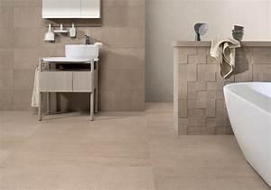 salle de bain en carrelage aspect pierre contemporaine With carrelage salle de bain imitation pierre