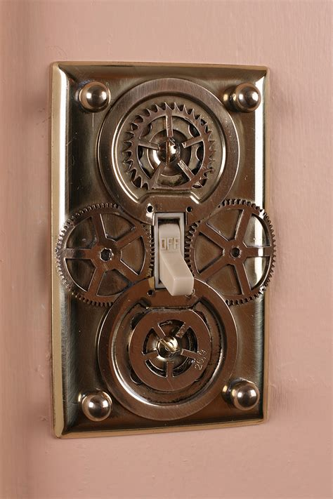 steunk home decor light switch plates