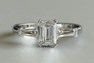 emerald cut engagement rings with baguettes 1ctw engagement ring emerald cut new zealand