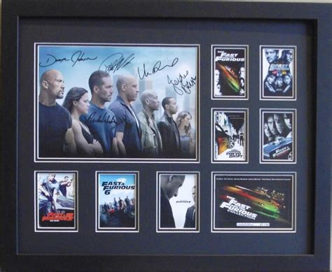 fast and furious 1 7 fast and furious 1 7 paul walker signed limited edition