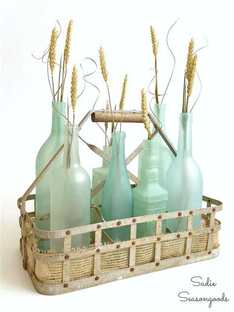 diy sea glass bottle craft allfreeholidaycraftscom