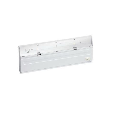 kichler 12056wh 2 light direct wire led cabinet
