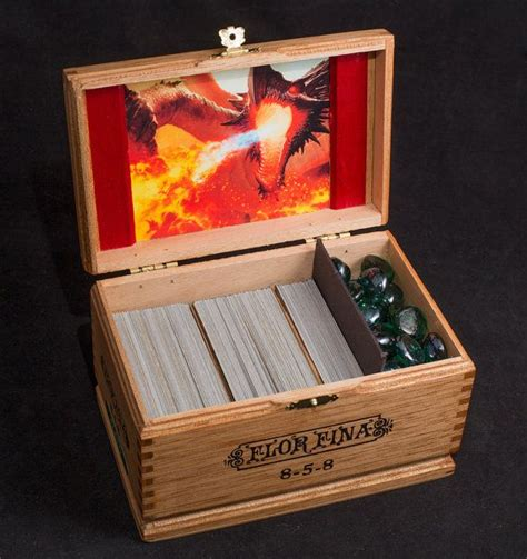 Wooden Deck Box Mtg by Magic The Gathering Wooden Deck Box Custom Image