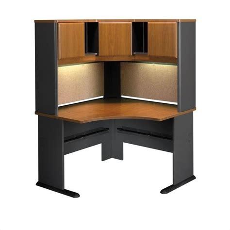 corner computer desk cabinet bush bbf series a 48 corner computer desk with hutch in