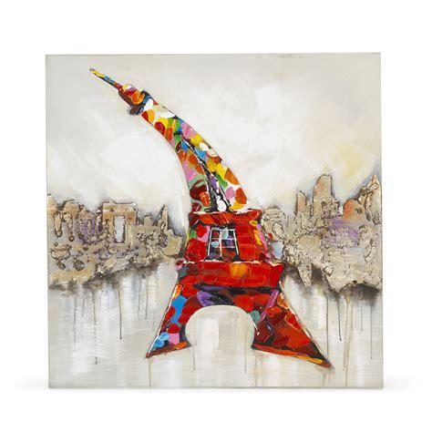 toile 80x80cm peinte 224 la la tour eiffel