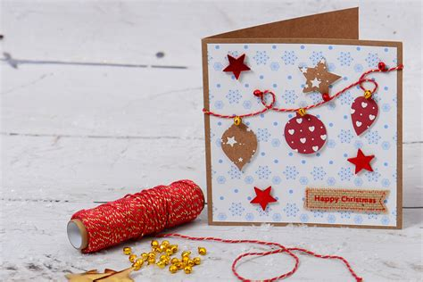 How To Make A Bauble Bunting Christmas Card  Hobbycraft Blog