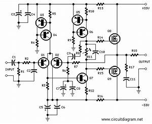 25w hifi audio amplifier with mosfet schematic design With 40w audio amplifier