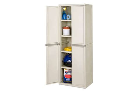 sterilite heavy duty 4 shelf cabinet two pack 01428501