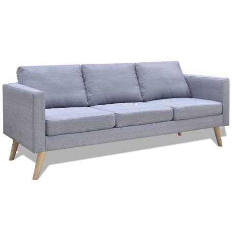 canapé tissu gris clair acheter canapé 3 places en tissu gris clair pas cher