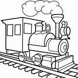 Train Outline Cartoon Clip Caboose Clipart Coloring sketch template