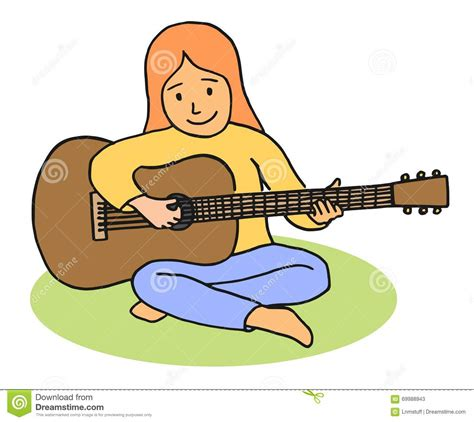 playing cartoon playing the guitar clipart 101 clip art