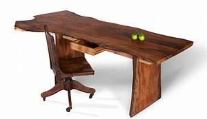 Live Edge Slab Desk Custom Wood Desk David Stine