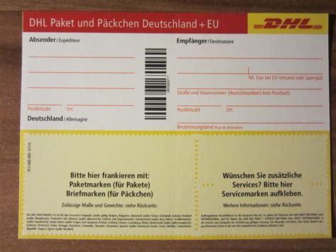 dhl paketschein paketmarke post paket