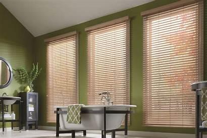 Blinds Wood Faux Privacy Holes Cordless Premium