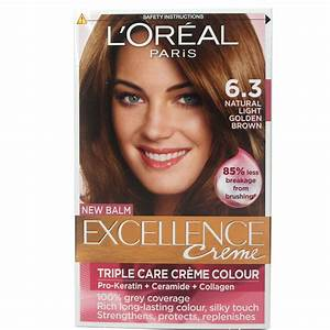L'Oreal Excellence Creme 6.3 Natural Light Golden Brown | eBay