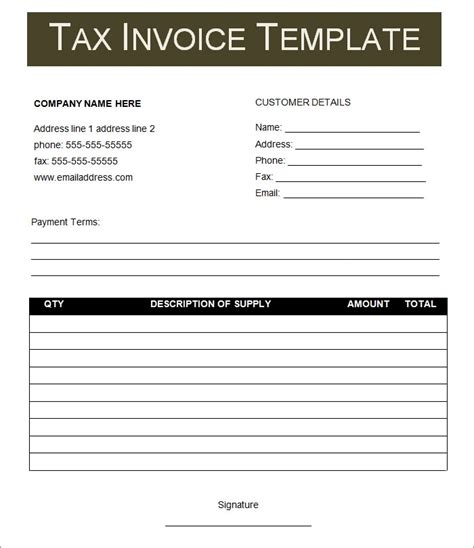 invoice template   word excel  documents