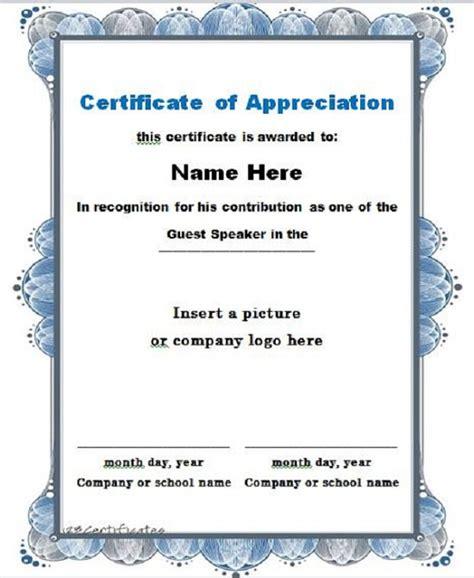 certificate of appreciation template 30 free certificate of appreciation templates and letters